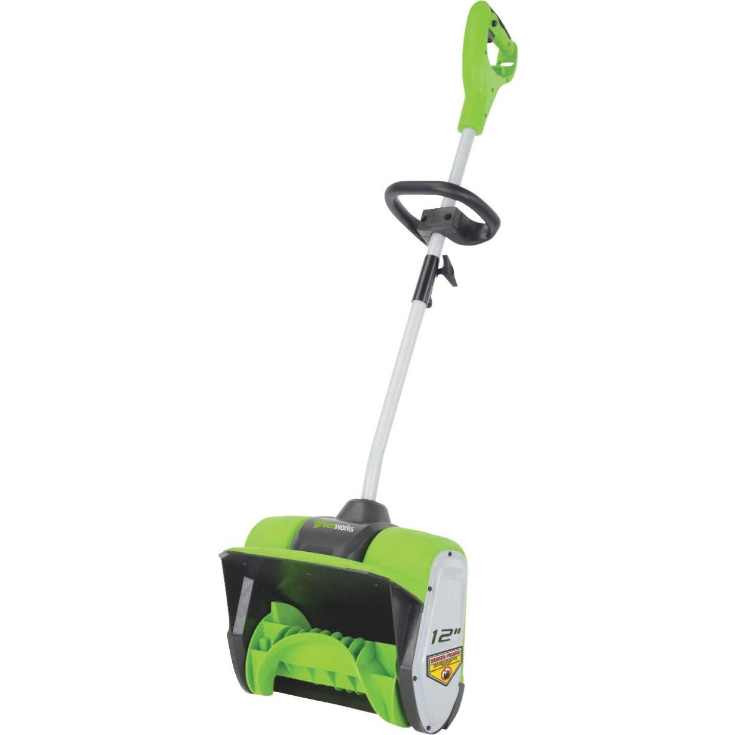Greenworks 12 In. 8A Electric Snow Blower Shovel Image 1