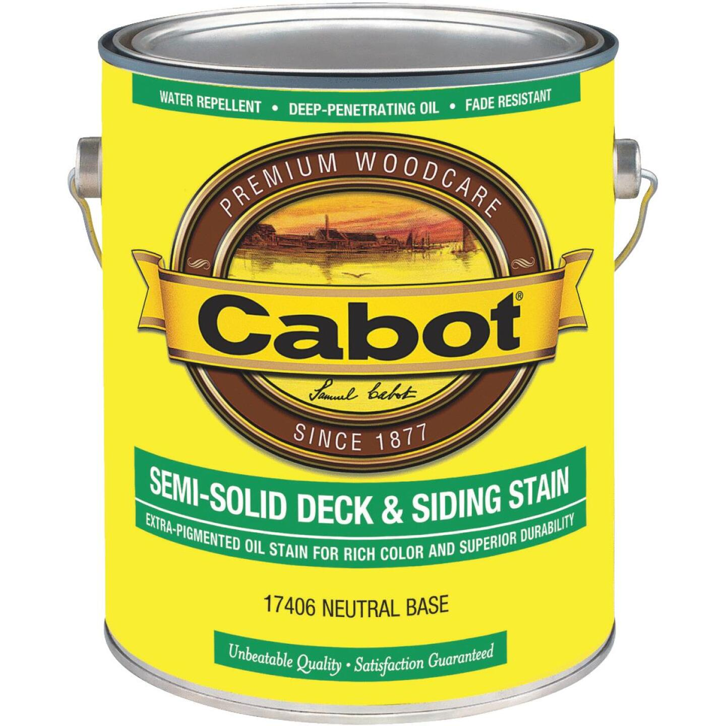Cabot VOC Semi-Solid Deck & Siding Stain, Neutral Base, 1 Gal. Image 1