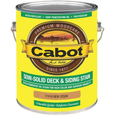 Cabot VOC Semi-Solid Deck & Siding Stain, Neutral Cedar, 1 Gal.