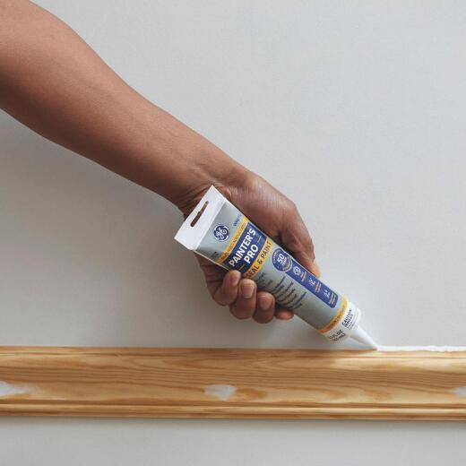 GE Painter's Pro 5.5 Oz. White Siliconized Acrylic Latex Caulk