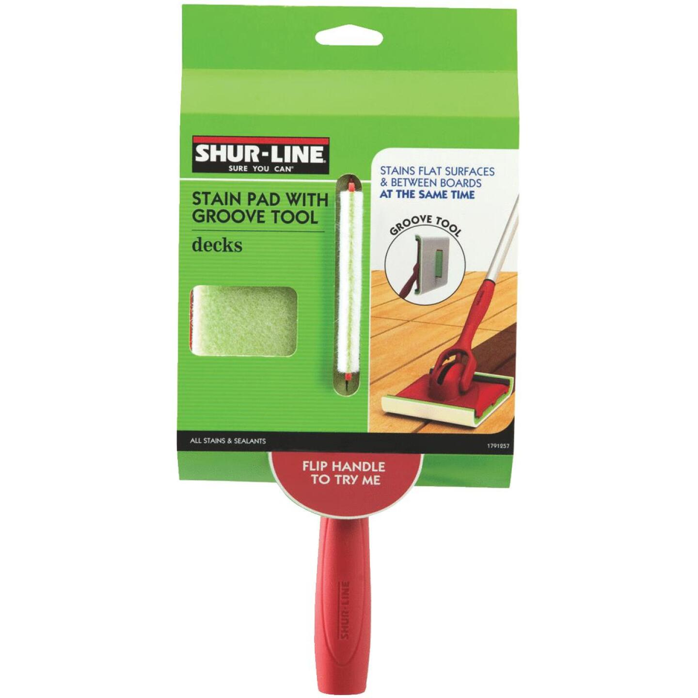Shur-line 3 In. x 6 In. Deck Pad Painter with Groove Tool Image 1