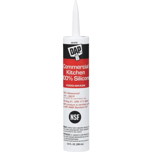 DAP 9.8 Oz. Commercial Kitchen Food-Grade Silicone Sealant, White