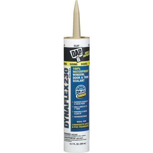 DAP DYNAFLEX 230 10.1 Oz. 100% Waterproof Window, Door, Siding & Trim Elastomeric Sealant, Clay