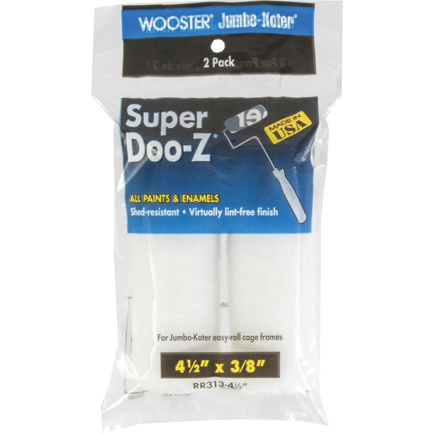 Wooster Jumbo-Koter Super Doo-Z 4-1/2 In. x 3/8 In. Mini Woven Fabric Roller Cover (2-Pack) Image 1