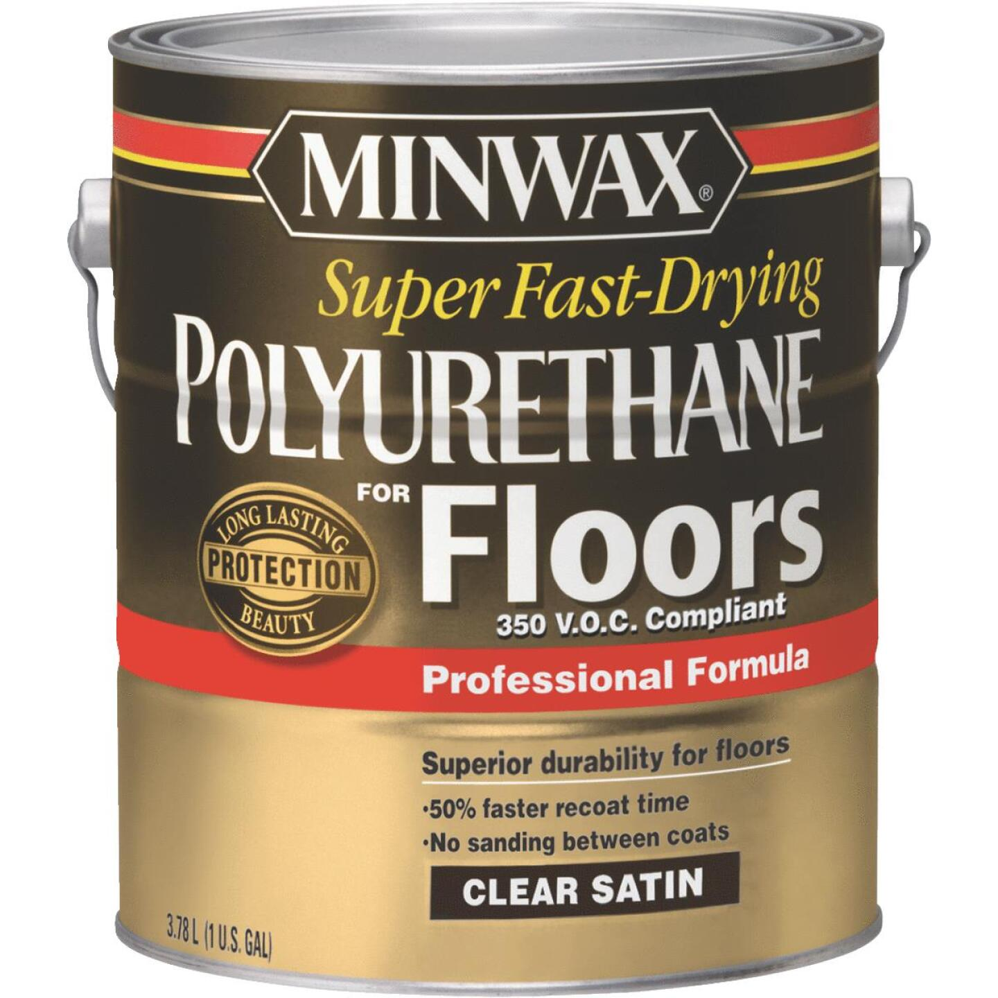 Minwax 1 Gallon Satin VOC Fast Drying Polyurethane For Floor Image 1