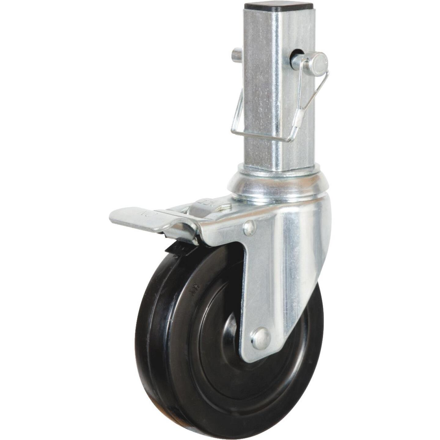 MetalTech 5 In. Scaffolding Caster with Double Lock 350 Lb. Load Capacity Image 1