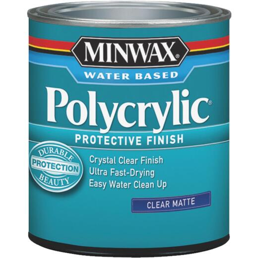 Minwax Polycrylic 1/2 Pt. Matte Water Based Protective Finish