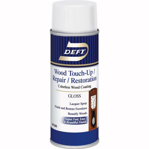 Deft VOC Compliant 12.25 Oz. Gloss Clear Wood Finish Interior Spray Lacquer