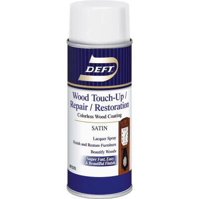 Deft VOC Compliant 12.25 Oz. Satin Clear Wood Finish Interior Spray Lacquer
