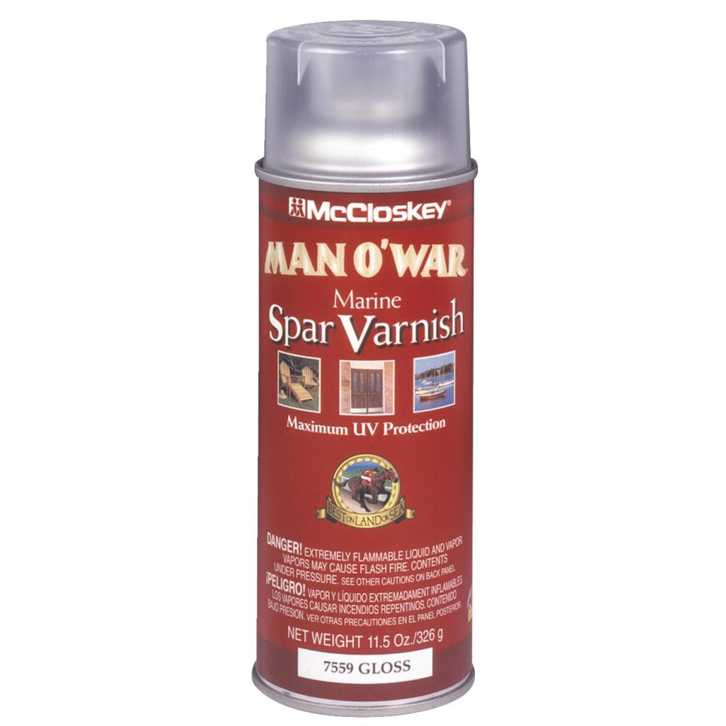 McCloskey Man O'War Gloss Marine Spar Spray Varnish, 11.5 Oz. Image 1