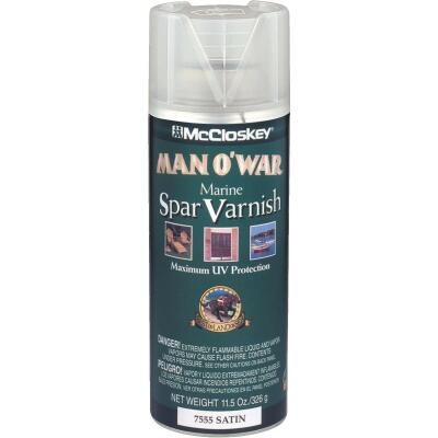 McCloskey Man O'War Satin Marine Spar Spray Varnish, 11.5 Oz.