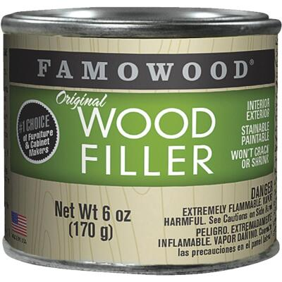 FAMOWOOD Natural  6 Oz. Wood Filler