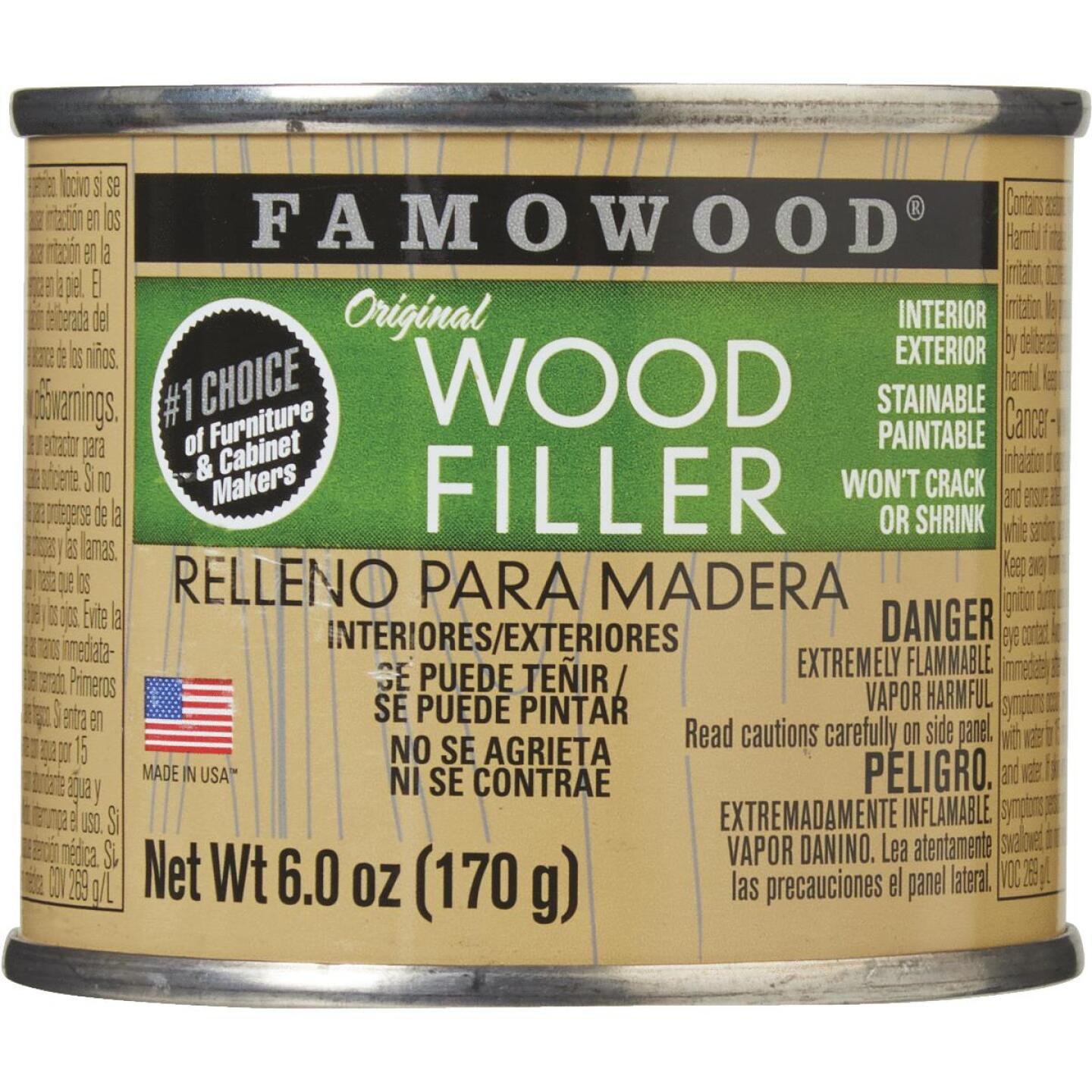 FAMOWOOD Red oak  6 Oz. Wood Filler Image 2