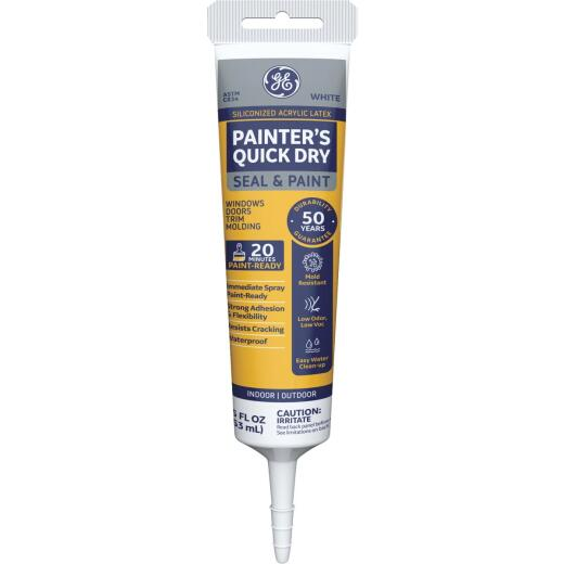 GE Painter's Quick Dry 5.5 Oz. White Siliconized Acrylic Latex Caulk