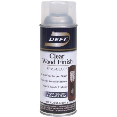 Deft 12.25 Oz. Semi-Gloss Clear Wood Finish Interior Spray Lacquer