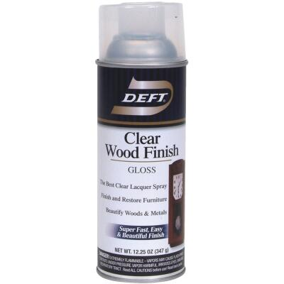 Deft 12.25 Oz. Gloss Clear Wood Finish Interior Spray Lacquer
