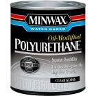 Minwax Gloss Water Based Oil-Modified Interior Polyurethane, 1 Qt. Image 1