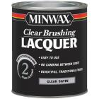 Minwax Satin Clear Brushing Lacquer, 1 Qt. Image 1