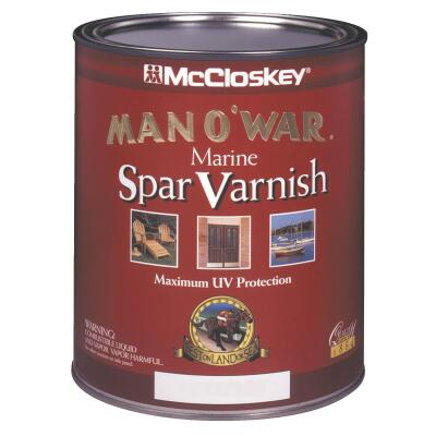 McCloskey Man O'War Semi-Gloss Marine Interior & Exterior Varnish, Quart