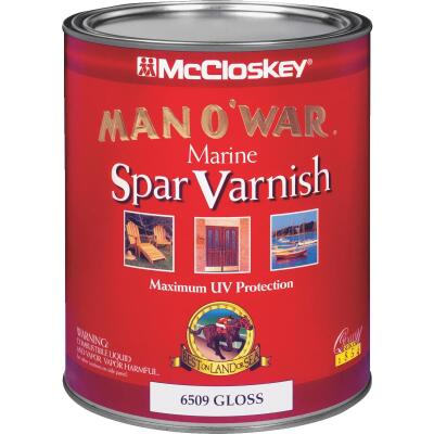 McCloskey Man O'War VOC Gloss Spar Interior & Exterior Varnish, Quart