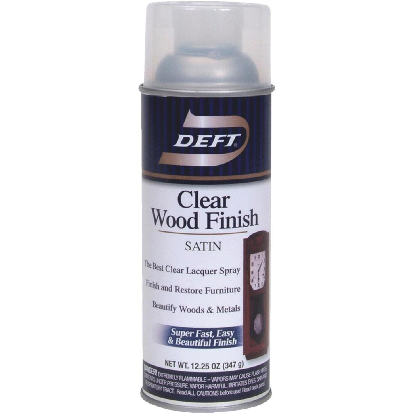Deft 12.25 Oz. Satin Clear Wood Finish Interior Spray Lacquer Image 1