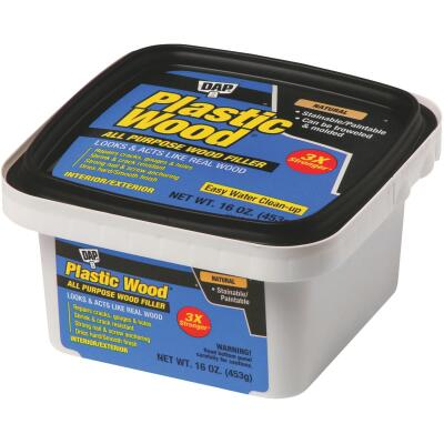 Dap Plastic Wood 16 Oz. Natural All Purpose Wood Filler