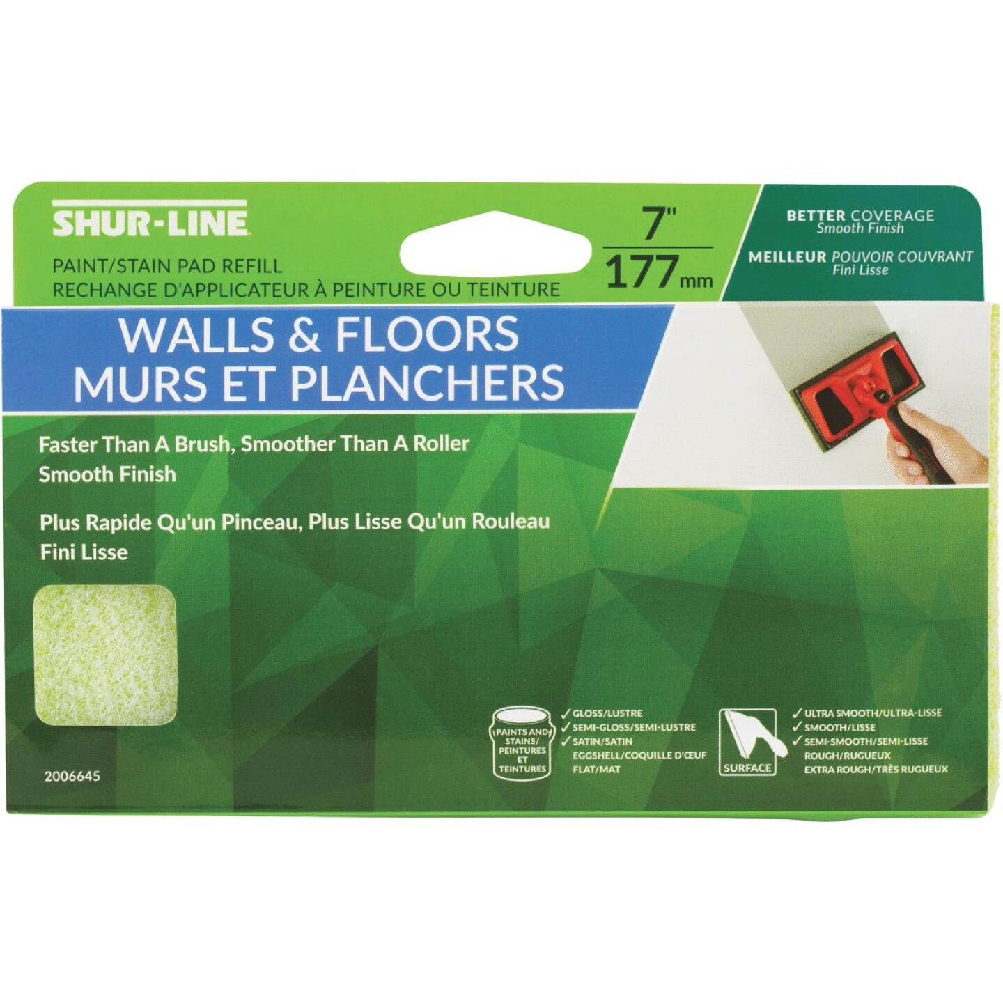 Shur-Line 7 In. Walls & Floors Paint Pad Refill Image 1