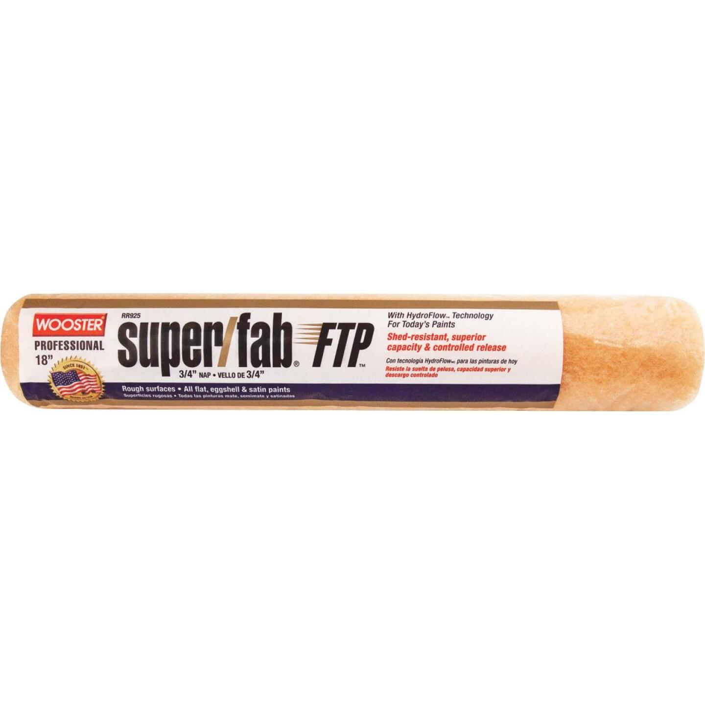 Wooster Super/Fab FTP 18 In. x 3/4 In. Knit Fabric Roller Cover Image 1