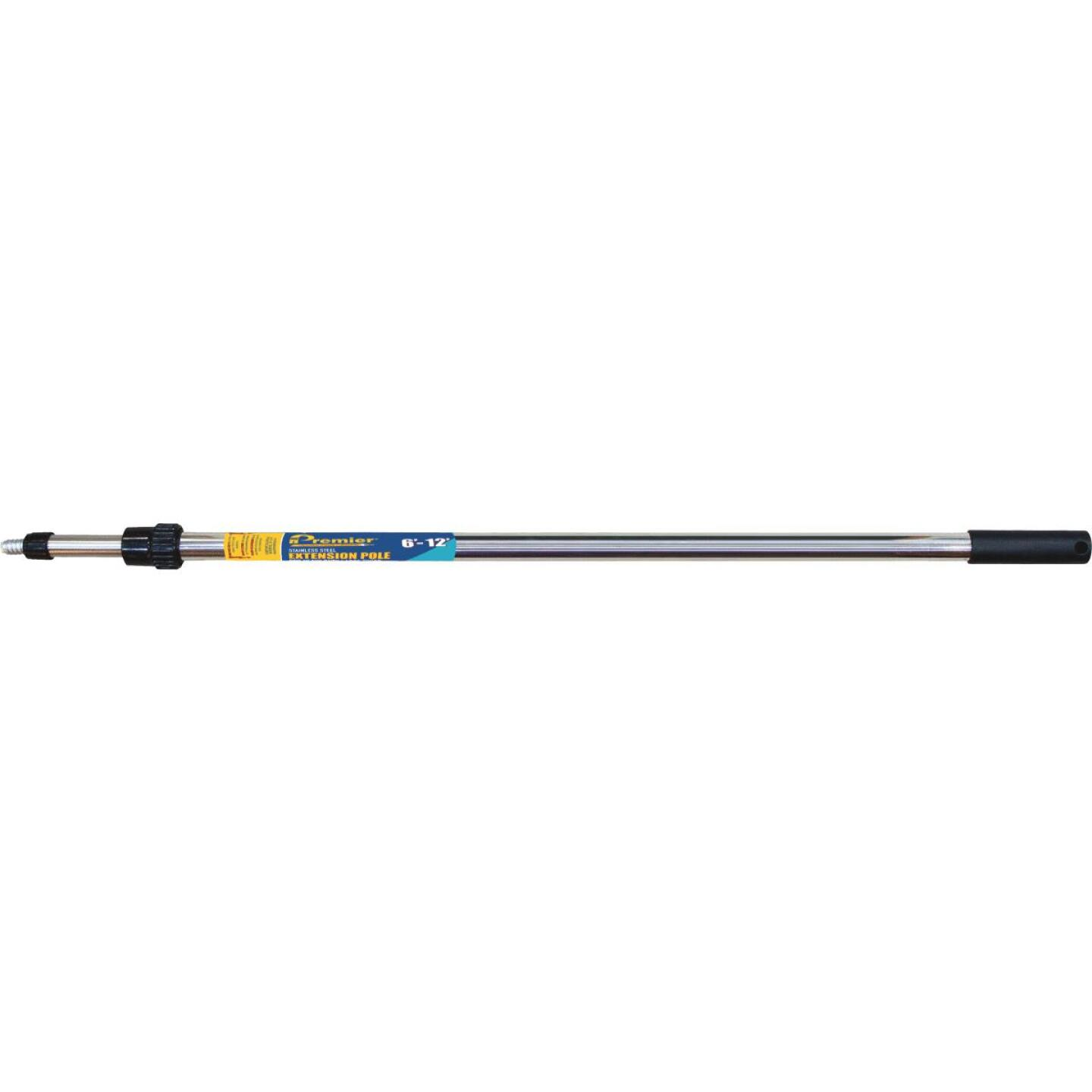 Premier 6 Ft. To 12 Ft. Telescoping Stainless Steel External Twist Extension Pole Image 1