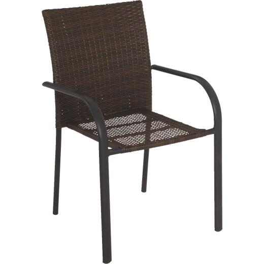 Sandoval Brown Woven Stackable Chair