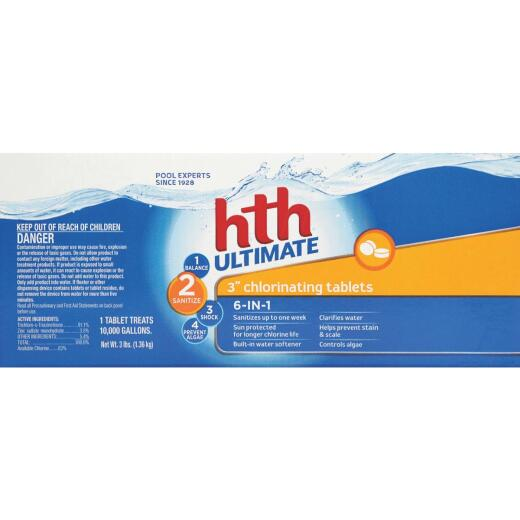 HTH 3 In. 3 Lb. Ultimate Chlorine Tablet