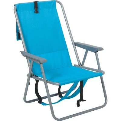 Rio Brands Blue Polyester Backpack Folding Chair