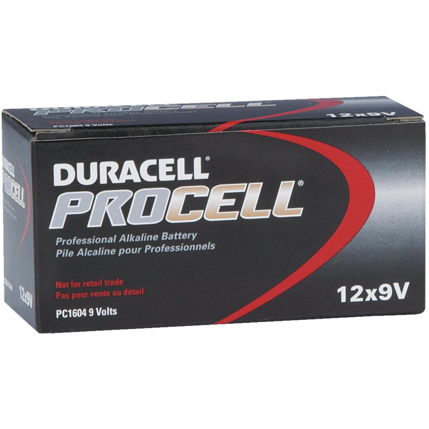 Duracell ProCell 9V Alkaline Battery (12-Pack) Image 1