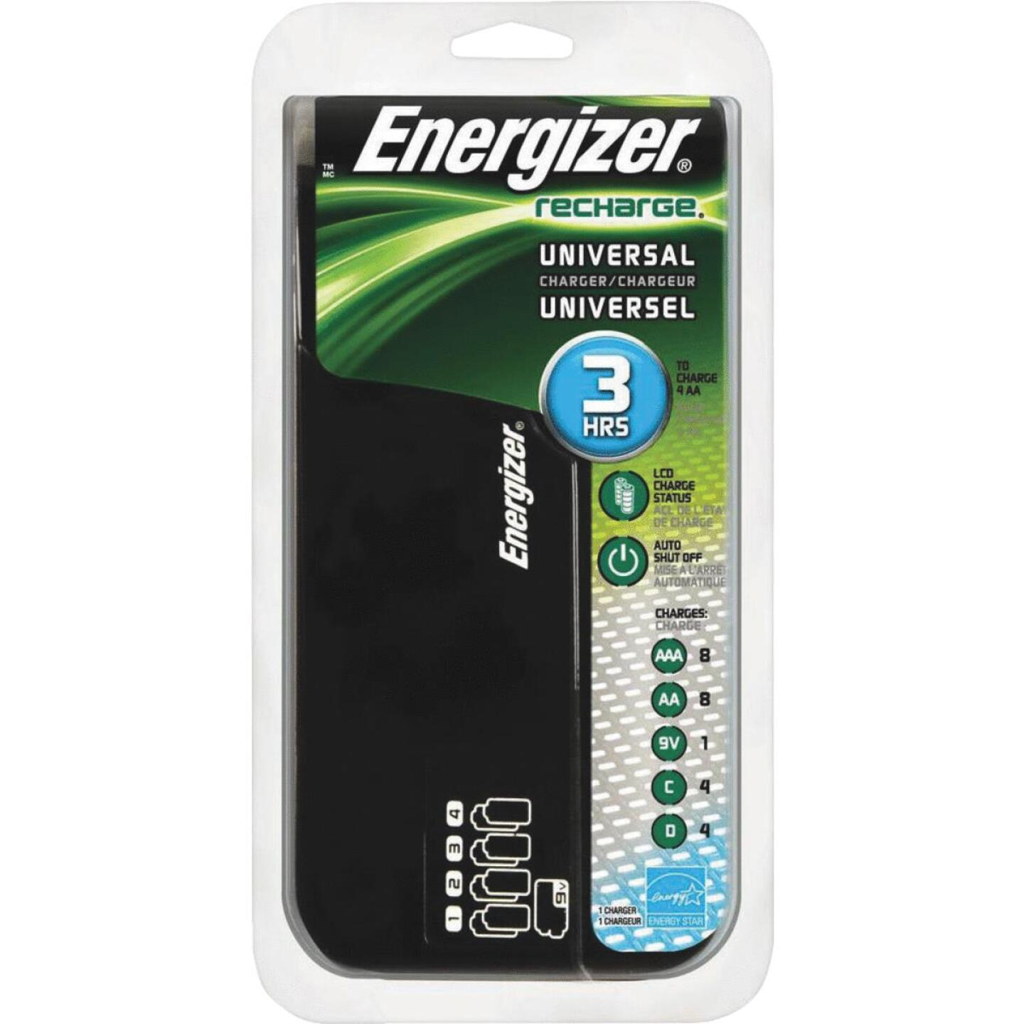 Energizer (8) AA, (8) AAA, (4) C, (4) D, (1) 9V NiMH Recharge Universal Battery Power Station Image 1