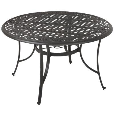 Pacific Casual Portofino 48 In. Round Black Aluminum Table