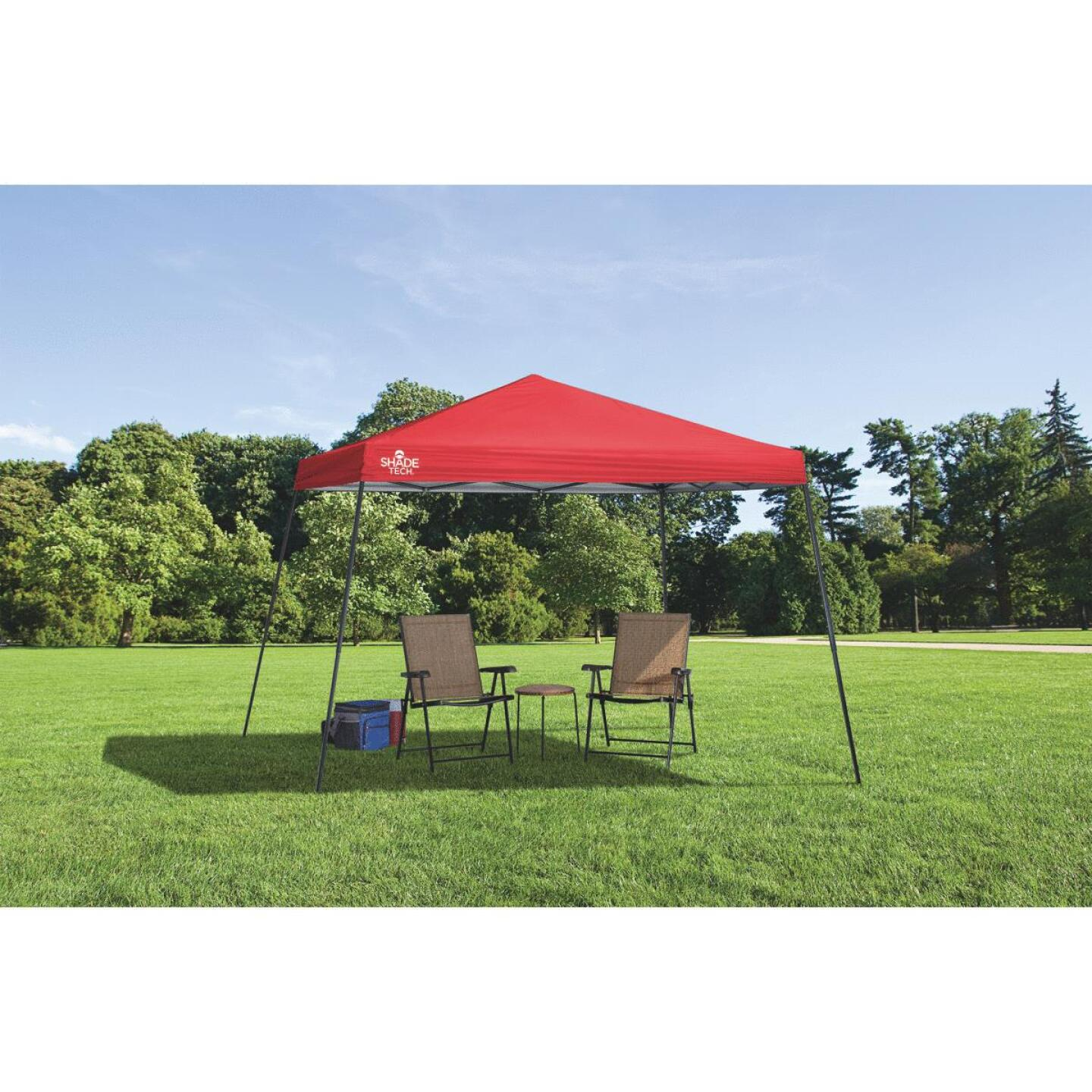 Quik Shade Shade Tech 12 Ft. x 12 Ft. Red Aluminex Fabric Canopy Image 2