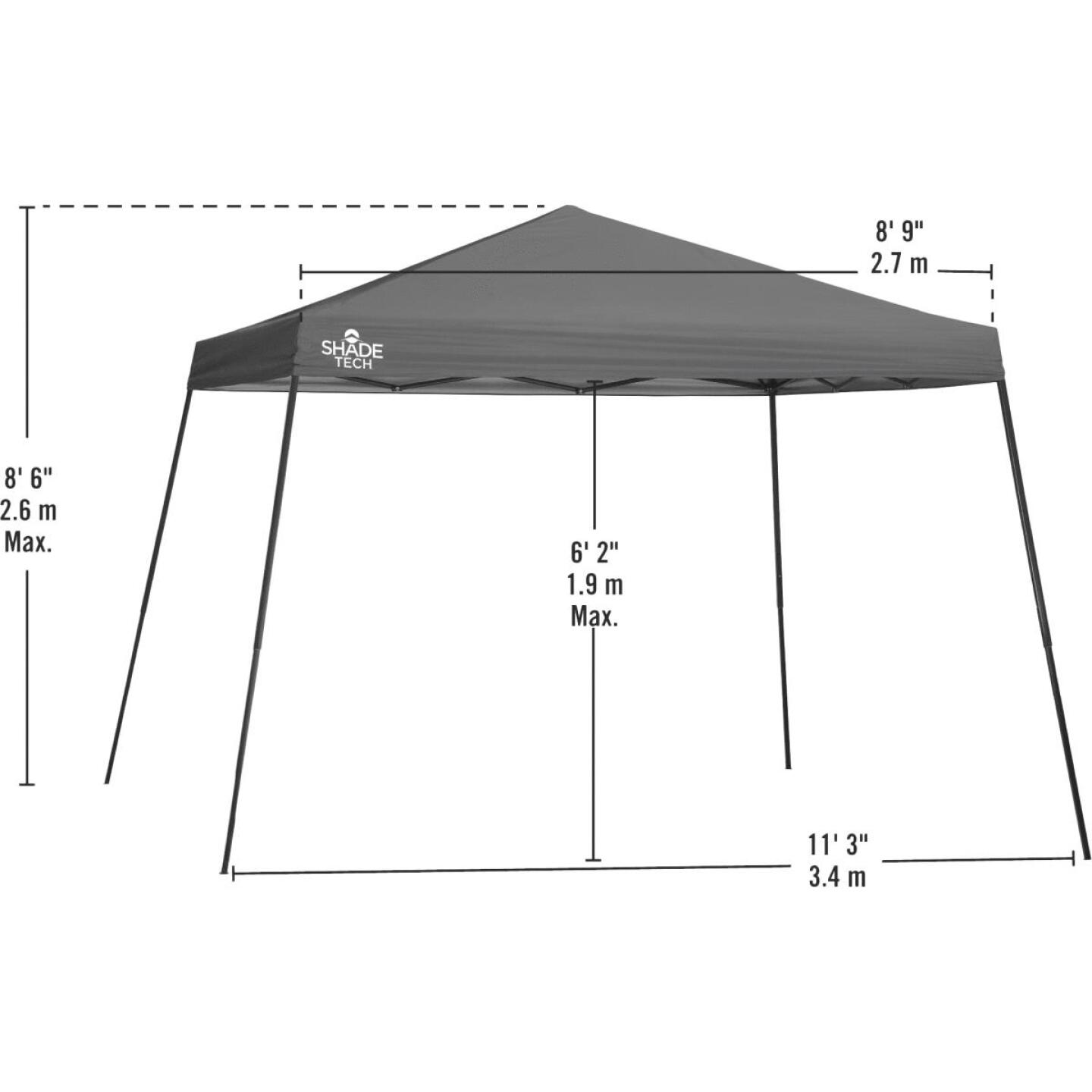 Quik Shade Shade Tech 12 Ft. x 12 Ft. Red Aluminex Fabric Canopy Image 3