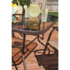 Outdoor Expressions Greenville 40 In. Square Brown Steel Tinted Glass Table Image 4