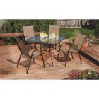Outdoor Expressions Greenville 40 In. Square Brown Steel Tinted Glass Table Image 6