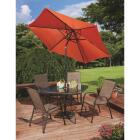 Outdoor Expressions Greenville 40 In. Square Brown Steel Tinted Glass Table Image 7