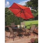 Outdoor Expressions Greenville 40 In. Square Brown Steel Tinted Glass Table Image 8