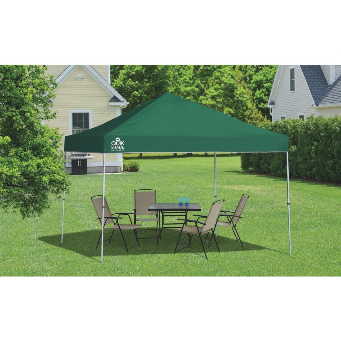 Quick Shade Weekender Elite 10 Ft. x 10 Ft. Green 150D Poly Top Aluminex Canopy Image 2