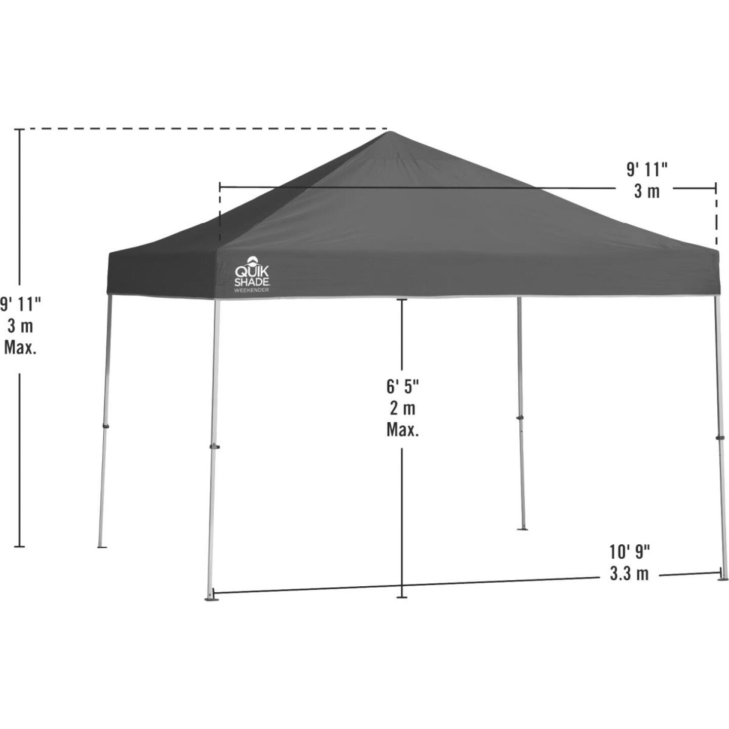 Quick Shade Weekender Elite 10 Ft. x 10 Ft. Green 150D Poly Top Aluminex Canopy Image 3