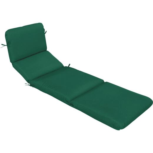 Casual Cushion 23 In. W. x 3.5 In. H. x 74 In. D. Green Chair Cushion