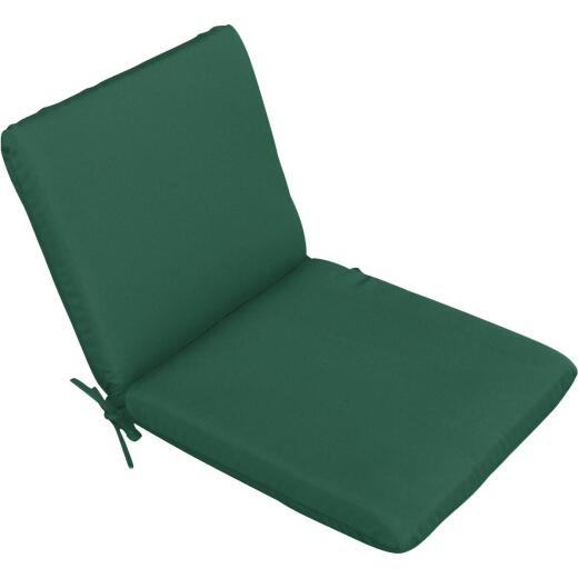 Casual Cushion 19 In. W. x 1.5 In. H. x 36 In. D. Green Chair Cushion