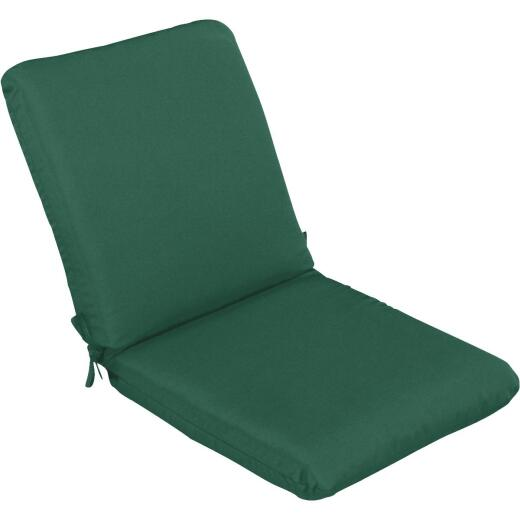 Casual Cushion 23 In. W. x 3.5 In. H. x 44 In. L. Green Chair Cushion