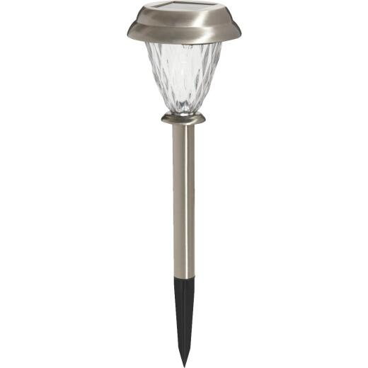 Outdoor Expressions Stainless Steel 3 Lumens Solar Path Light