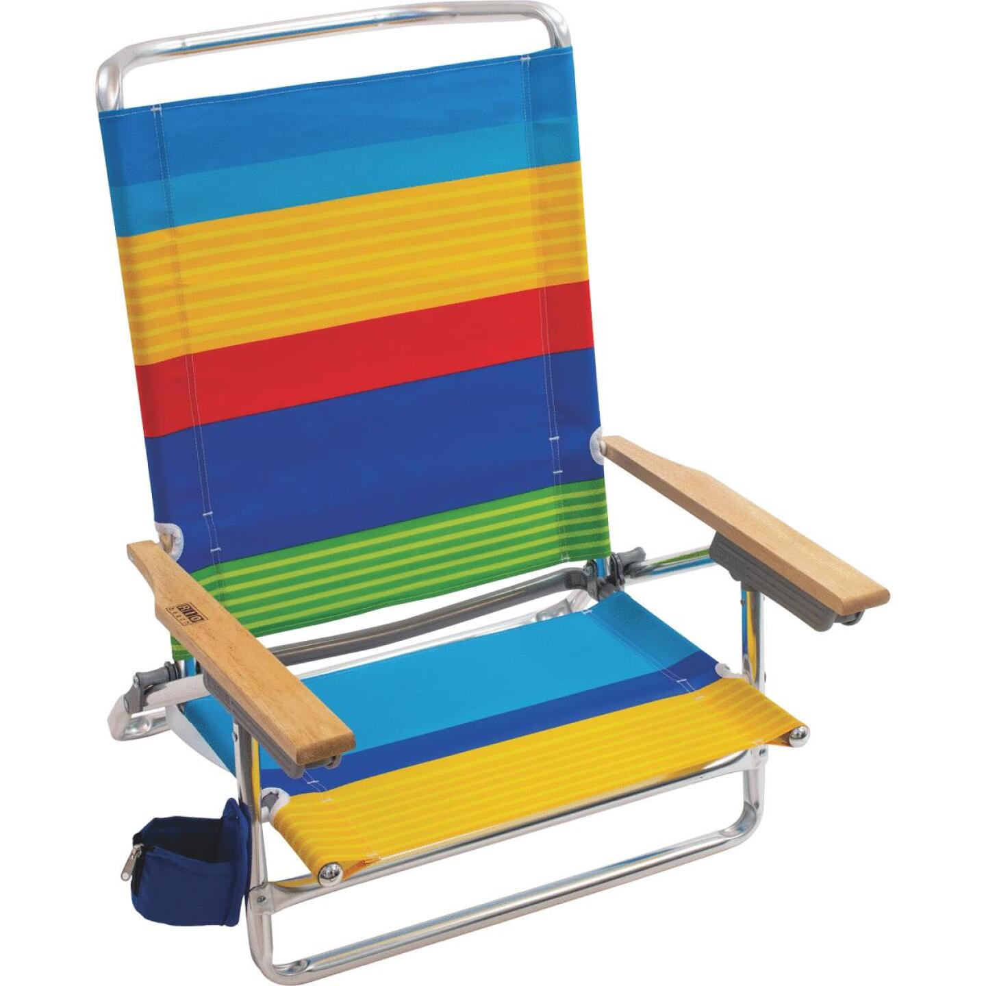 Rio Brands 5-Position Aluminum Lay Flat Beach Chair Image 1