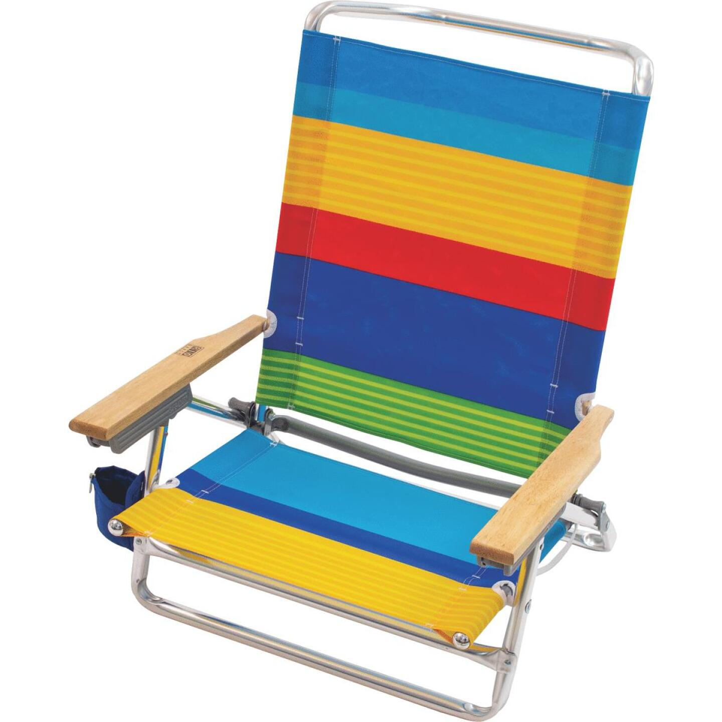 Rio Brands 5-Position Aluminum Lay Flat Beach Chair Image 4
