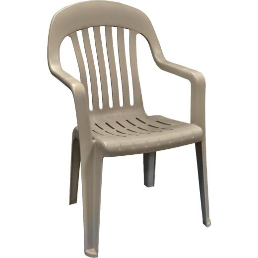 Adams Portobello Resin High Back Stackable Chair